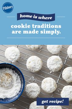Russian Tea Cookies, Russian Tea Cake, Christmas Desserts, Christmas Baking, Pillsbury Sugar Cookie Dough, Eating Raw Cookie Dough, Cake Mix Cookie Recipes, Bakery Recipes, Tea Cakes