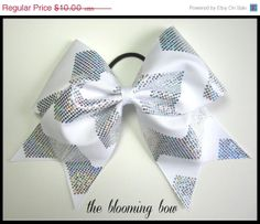 ON SALE White Chevron Cheer Bow by TheBloomingBow on Etsy, $9.00