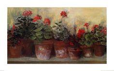Kathleen's Geraniums by Carol Rowan