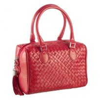 Italian Woven Leather Handbag by heritage brand Bottega Fiorentina