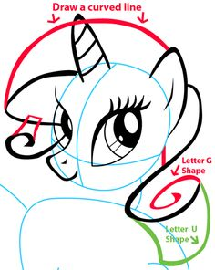 how to draw rarity from my little pony with easy step by step MLP Rarity Happy Birthday step 7 drawing rarity from my little pony in easy steps lesson