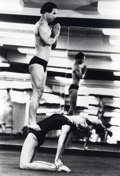 Yoga teacher Bikram Choudhury with actress Jill St John.