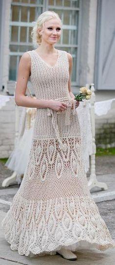 205 best Crochet Wedding Dress images on Pinterest in 2018 | Crochet ...