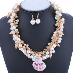 SHARE & Get it FREE | A Suit of Elegant Faux Pearls Shells Necklace and Earrings For WomenFor Fashion Lovers only:80,000+ Items • New Arrivals Daily • Affordable Casual to Chic for Every Occasion Join Sammydress: Get YOUR $50 NOW!