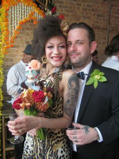 Click the image for details on Erin's wedding hair and style