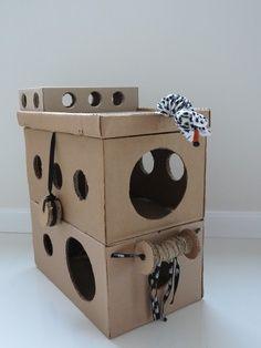 cat playhouses homemade | inexpensive cat playhouse
