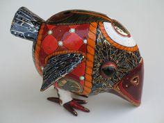 Bird - porcelain sculpture - by Ukrainian artists Anya Stasenko and Slava Leontyev
