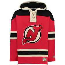0ae7c40c32b New Jersey Devils Old Time Hockey Lacer Heavyweight Pullover Hoodie - Red -  NHL Sweatshirts Online