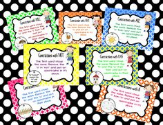 contraction anchor chart freebie