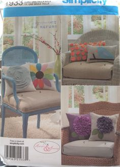 Decorative Pillows Cushions Simplicity Sewing Pattern By Followlight On Etsy