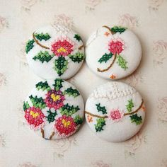 nice cross stitch buttons
