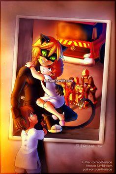 Chat Noir & Ladybug to the rescue Comics Ladybug, Ladybug Y Cat Noir, Meraculous Ladybug, Los Miraculous, Miraculous Ladybug Movie, Lady Bug, Caricature, Marinette And Adrien, Fandoms