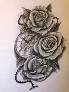 Rosas Com relógio