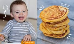 Butternut Squash and Goat Cheese Pancakes Baby Led Feeding.