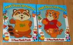 FOR SALE - The Shirt Tales 3D Plastic Puzzle Lot TYG Rick Illco Pre-School NIP 1982