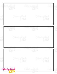 A blank comic book to create great stories for kids and adults. This blank template is aimed for people who like simplicity and charm. One repeatable system of 3 wide panels. 120 pages of the same template. This arrangement of panels is ideal for children and beginners because it contains a lot of space.In such a case, there is always a place for an additional drawing or a speech bubble. This template does not contain speech bubbles so it does not limit us in drawing. Blank Comic Book, Comic Page, Comic Books, Stories For Kids, Great Stories, Comic Book Drawing, Comic Book Template, Bubbles, Layout