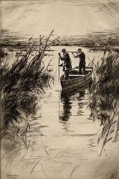 West, Levon - American (1900-1968) Item type:Hunting Etching & drypoint.