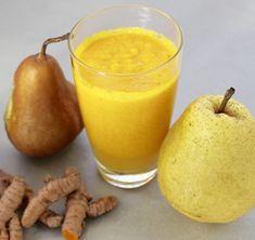 Kurkumás-körtés smoothie Cantaloupe, Smoothie, Pudding, Fruit, Desserts, Food, Turmeric, Tailgate Desserts, Deserts