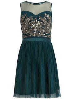 Dorothy Perkins Teal embellished dress