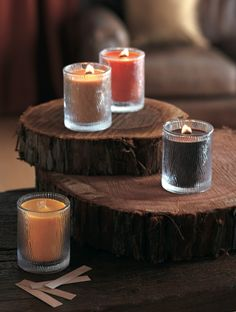 Nature's Light by #PartyLite wooden wick candles