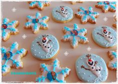 Galletas decoradas de Frozen: Elsa, Ana y Olaf