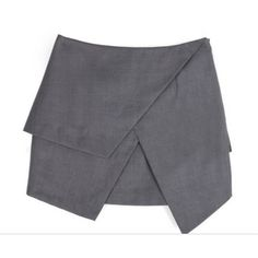 my mum made it Grey Asymmetric Skirt (98 AUD) ❤ liked on Polyvore featuring skirts, bottoms, saias, faldas, asymmetrical skirt, grey skirt and gray skirt
