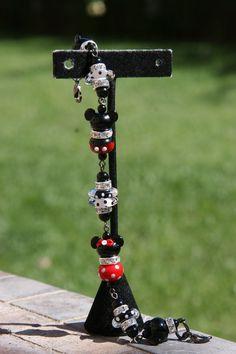 Disneyland Magic SRA Lampwork Disney Inspired Mickey Mouse Style DeSIGNeR Bracelet by chuckhljal, $80.00