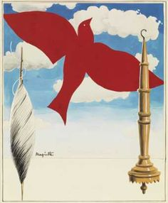 Rene Magritte - Draft poster for the textile workers of Belgique Central, 1938 - Royal Museum of fine arts of Belgium, Brussels, Brussels