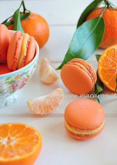 my favourite food!!! Tangerine macarons!!! any macarons!!!
