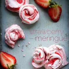 Strawberry Meringue Cookies
