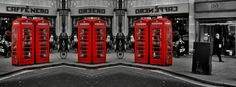 Stock images: Facebook cover photo (851px x 315px) - London - Telephone boxes - Photographed: 8 April 2014