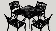 3D Model of Kytson 5 Piece Outdoor Dining Set