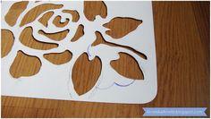 Diy tutorial Rose stencil  Jak zrobić szablon wielokrotnego użytku różę?