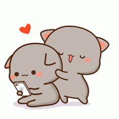 Cute Cartoon Pictures, Cute Love Pictures, Cute Love Gif, Cute Love Cartoons, Pig Wallpaper, Cute Disney Wallpaper, Cute Cartoon Wallpapers, Cute Anime Cat, Cute Anime Chibi