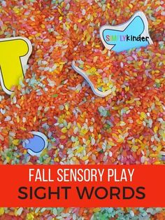 Fall Sensory Play Sight Words