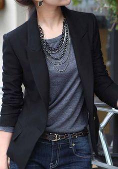Black Blain Turndown Collar Long Sleeve Coat