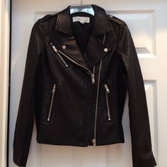 🎉ONE DAY SALE 🎉 Vintage Havanna Jacket Beautiful NWOT Jacket. Inside sleeves and sides are ribbed spandex. Zippers on sleeves and sides. Great classic jacket for everyone. Looks and feels like real leather. Vintage Havana Jackets & Coats