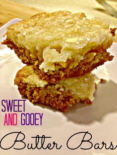 Sweet & Gooey Butter Bars
