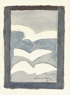 Lithographie - Georges Braque - Résurrection de l'oiseau