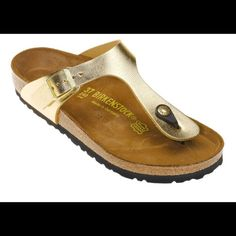 Birkenstock - Gold Gold Birkenstock *never worn & new* Birkenstock Shoes Sandals