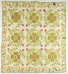 Whig Rose Appliqued Quilt (1/15/2011 - ONLINE American Quilts Timed Auction,)