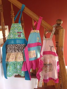 My first attempt at little girl aprons!