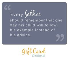 #FathersDay A quote about fathers. #QuotesOnGiftCards