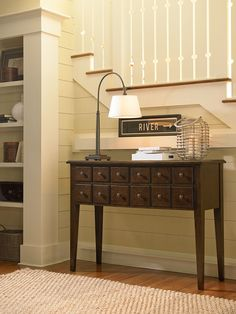 river house collection apothecary console in a river bank finish apothecary furniture collection