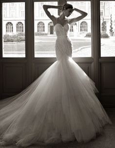 Sexy Berta Wedding Dresses 2014 Part I- Kind of has old Hollywood appeal to it. I'm not into mermaid style, because it's the trend for weddings right now, but I would definitely go for this beauty!