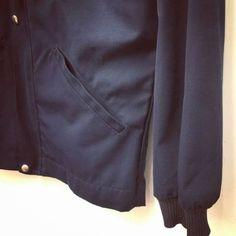 1989年4月製【FRANCE】MARINE NATIONAL 『BLOUSON』STAND UP COLLOR JACKET SIZE 92 フランス軍 NAVY ブルゾン スタンドアップカラージャケット Collor, Military, France, Navy, Fashion, Hale Navy, Moda, Fashion Styles, Old Navy