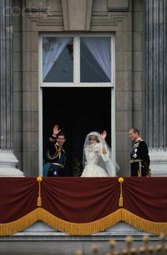 July 29, 1981: Prince Charles marries Lady Diana Spencer in Saint Paul's Cathedral.  Prince and Princess of Wales wave goodbye to the huge crowd and well-wishers from the balcony of Buckingham Palace after their wedding in St. Paul's Cathedral.