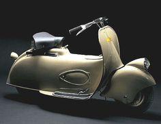 """The Moto Piaggio 5, or the """"Paperino"""" (i.e. Donald Duck) was the prototype motor…"""