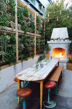 45 Pretty Outdoor Restaurant Patio Design Ideas For Fantastic Dinner Outdoor Rooms, Outdoor Living, Outdoor Decor, Outdoor Ideas, Patio Ideas, Outdoor Restaurant Patio, Fire Pit Furniture, Cozy Fireplace, Fireplace Outdoor