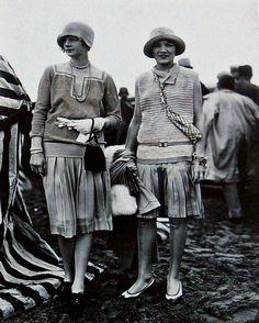 Deauville beach fashion | Retronaut Designs by Jean Patou, 1927